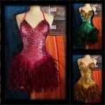 Robe à paillettes plumes - spectacle Cabaret 2