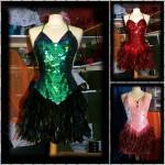 Robe à paillettes plumes - spectacle Cabaret 3