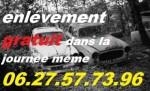 Épaviste gratuit   Béziers récup auto moto 100°/. gratuit