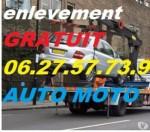épaviste DÉBARRASSASSE -AUTO -MOTO- TOUS- VÉHICULE - gratuit