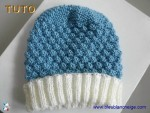 Tuto bonnet et chaussons lac-ecru, tutoriel en pdf, tricot bb 2