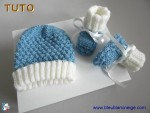 Tuto bonnet et chaussons lac-ecru, tutoriel en pdf, tricot bb