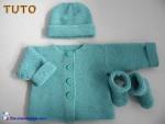 Tuto cardigan bb, bonnet et chaussons, tutoriel pdf tricot bebe