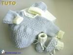 Tuto trousseau azur-ecru astrakan, tricot bb, explications