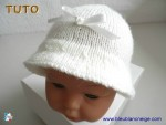 Tuto chapeau tricoté laine bb, explications détaillées 2