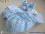 Tuto trousseau Bleu point Astrakan, tricot bebe, en pdf