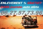 Épaviste 34  Béziers récup auto moto 100°/. gratuit