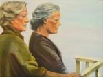 Tableau Les Dames de Cornouailles Peinture à l'huile originale