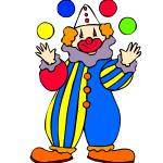 Clown magicien et sculptures ballons  forfait 1H : 90€ dans un