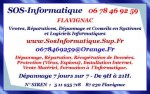 SOS-Informatique - 06 78 46 92 59 7 jours sur 7 à Domicile ou en