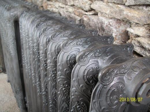 radiateur fonte fleuri radiateur en fonte ancien decoré - nantes