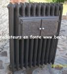 210 radiateurs en fonte fleuri décoré année 1900 rénové 1