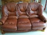 Canape et fauteuil cuir