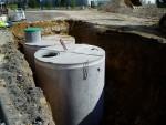 Réservoir sous terre pour le recueil d'eau de pluie 10000L