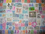 LOT DE 200 TIMBRES DIFFERENTS DE FRANCE OBLITERES