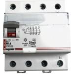 Disjoncteur differentiel tetra LEGRAND 40A 400V 30mA pas cher