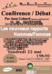 Conférence débat les rapports hommes/femmes