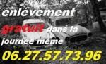 Casse auto moto  epave   épaviste gratuit  0627577396