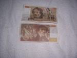 5 BILLETS DE 100 FRANCS DELACROIX DE 1980/84/86