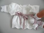 Trousseau brassière bébé tricot laine