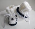 Chaussons bébé tricot laine fait main