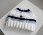 Bonnet bébé tricot laine fait main