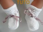 TUTORIEL chaussons layette bébé tricot laine