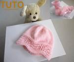 Explication TUTO bonnet chaussons layette bébé