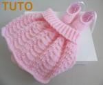 Explication TUTO jupe et ballerines tricot bébé fait main