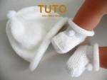 TUTORIEL chaussons bleu à pompons bébé tricot laine 2