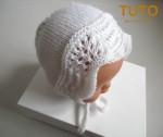 Explication TUTO béguin bébé tricot laine faitmain