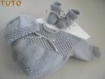 Tuto trousseau astrakan bébé tricoté main
