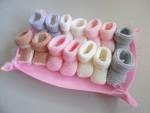 Semainier de chaussons tricot laine bébé fait main