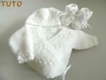 Tuto trousseau tricot laine croisé blancs