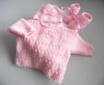Tricot bébé trousseau calinou rose
