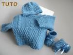 Tuto tricot bébé trousseau BLEU calinou