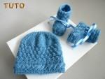 Tuto tricot bébé Bonnet et chaussons