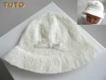 Explications chapeau tricot bébé, laine fait main, tutoriel
