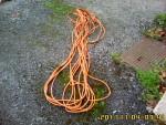 Rallonge électrique avec prise de terre. 24 à 25 m de longueur.