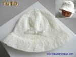 Tuto Chapeau bébé en laine, explications pdf