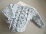 TRICOT bebe, gilet bb, layette tricotee main en laine