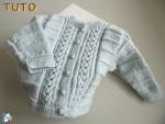 TUTO, pdf gilet bleu azur, bb garcon, tricote main